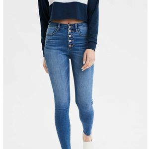 American Eagle front button jeggings